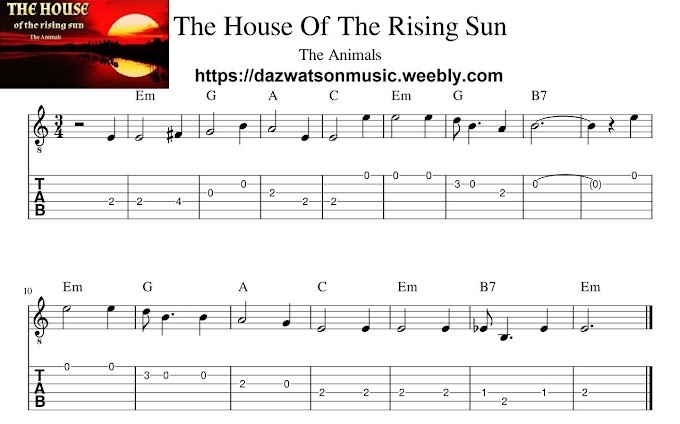 Famous Songs Easy Guitar Tabs