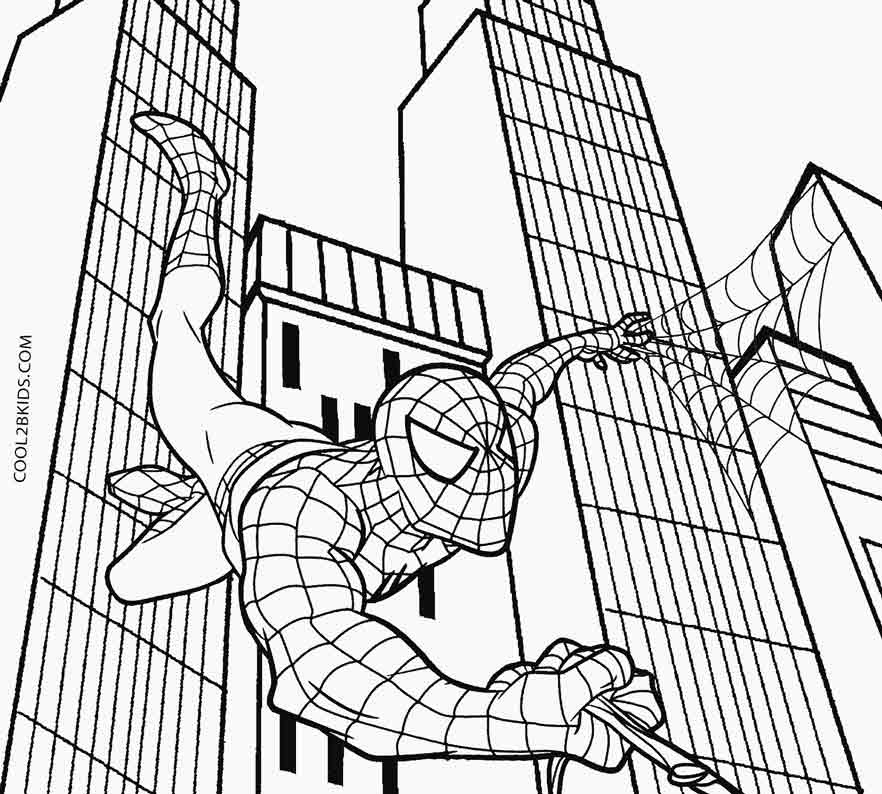 440 Spiderman Coloring Pages Prek  Images