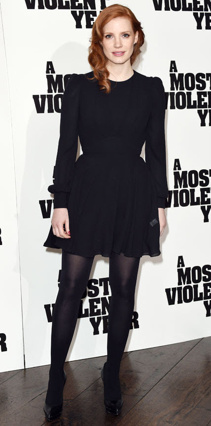 Jessica Chastain in Saint Laurent  Hollywood and Fashion Style Stars - My 8 Best Dressed 1/25/2015
