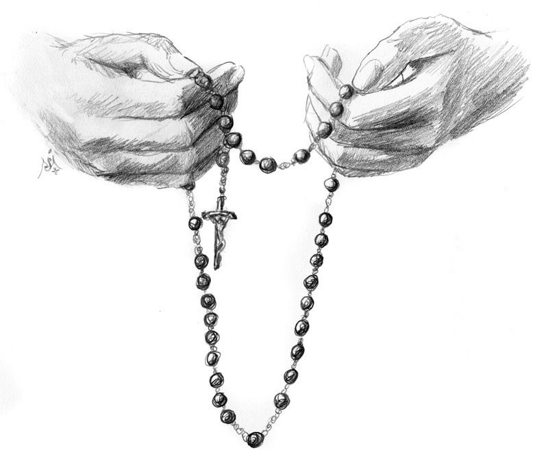 Hands With Rosary Jef Murray Studios