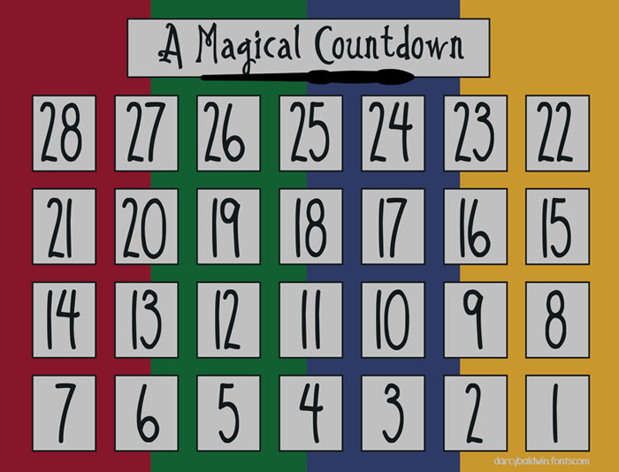 djbfonts magicalcountdowncalendar blog