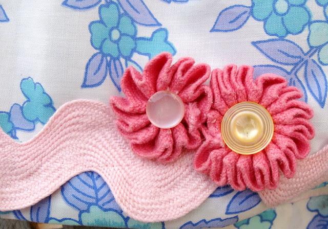 Pillowcase skirt flowers