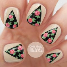 Daily Nail Art: Rose Curtains | FlauntMe