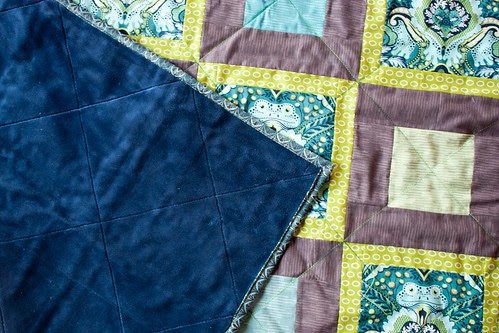 Prince Charming quilting up close
