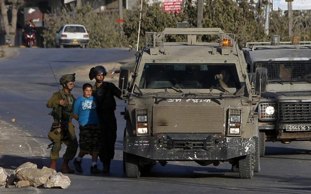 Palestinian youth arrest, Silwad