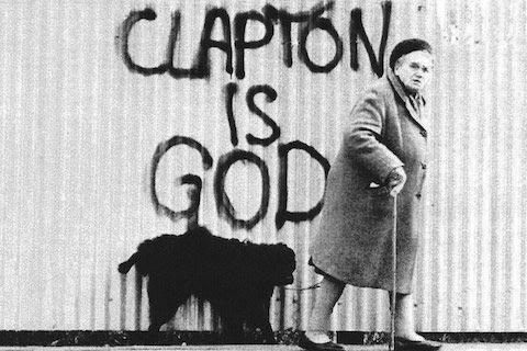 1960s graffiti proclaiming 'Clapton is God'.