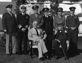 Roosevelt, Churchill, and Combined Chiefs of Staff, Casablanca, January 1943