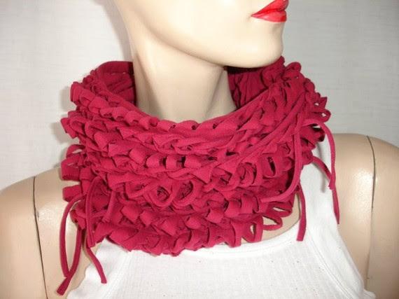 рукодельные шарфы из футболок