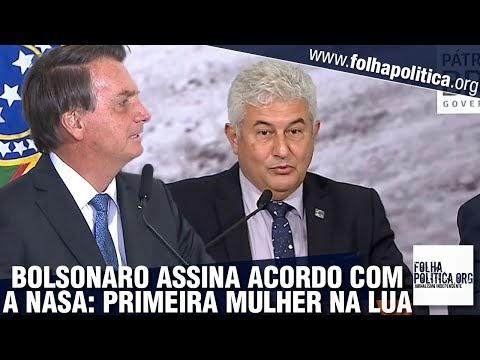 Bolsonaro faz pronunciamento ao assinar acordo com os EUA para enviar primeira mulher à Lua