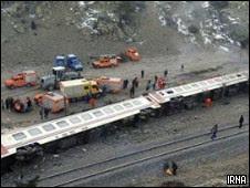 واژگون شدن قطار