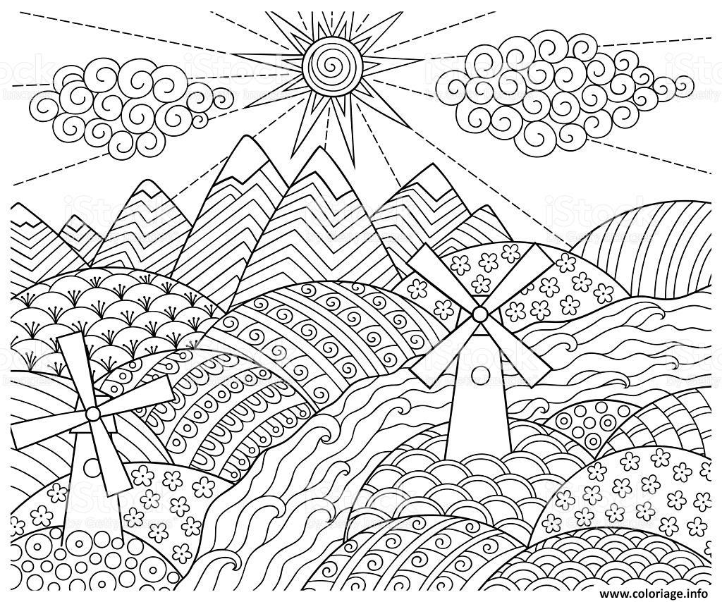 Coloriage doodle pattern fun world