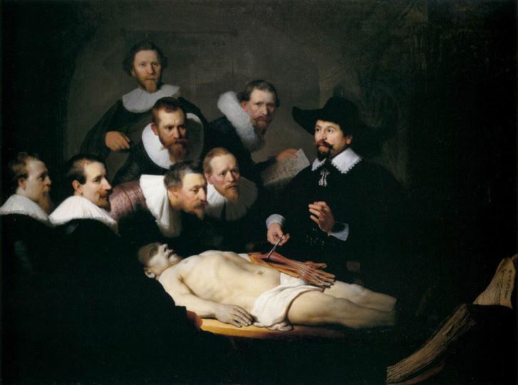 <p><em>La lección de anatomía del doctor Nicolaes Tulp,1632</em></p>
