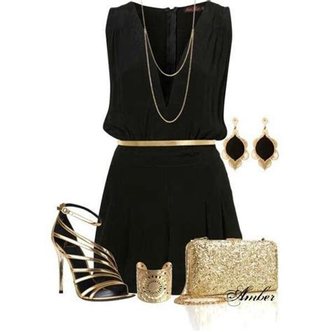 Little black dress with gold accessories   My Style