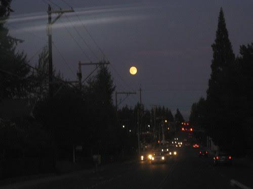 Harvest Moon over Lynnwood