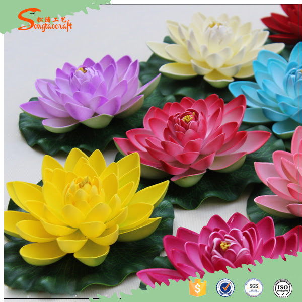 Wholesale Artificial Lotus Flower For Pool Decorative Plastic Lotus Water Lily Artificial