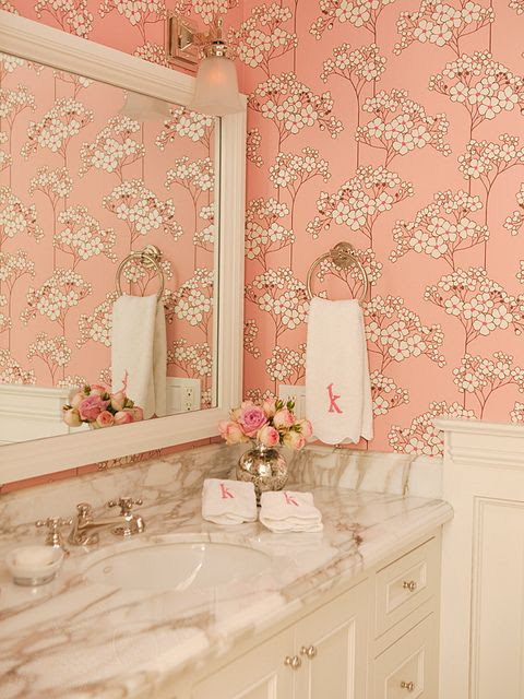 pretty papered powder rooms