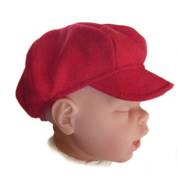 Baby newsboy hat for newborn 33 to 35cm