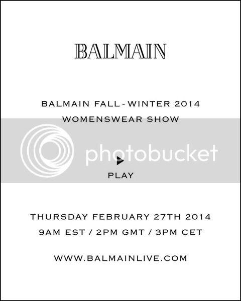 défilé Balmain automne hiver 2014/15 livestreaming