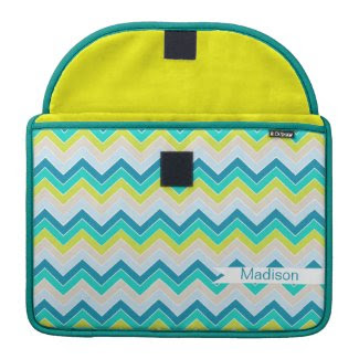 Island Oasis {chevron pattern} Sleeves For Macbooks