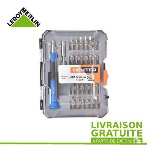 Leroy Merlin Set De Micro Vissage De Précision - Tournevis - 32 Pcs - Chrome Vanadium - Garantie 5 Ans