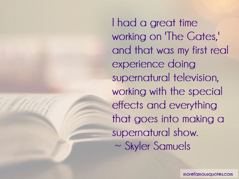 Supernatural As Time Goes By Quotes Top 1 Quotes About Supernatural