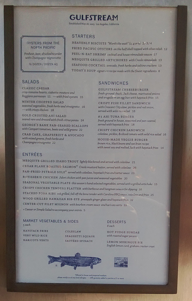 Gulfstream-Los Angeles (Century City), CA: Menu