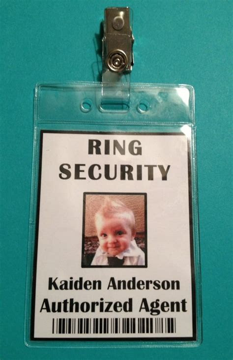 Ring Security Badge   Ring Bearer   Ring Security Agent