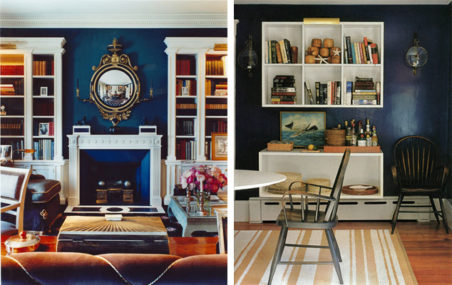 A Stylish Nest ♥: Lovely Navy Rooms