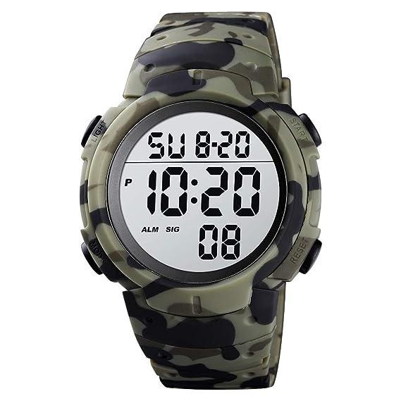 Mens Digital Sports Watch LED Screen
