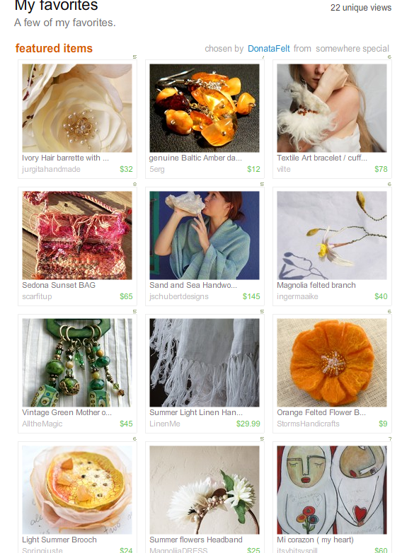 My Favories Treasury by DonataFelt