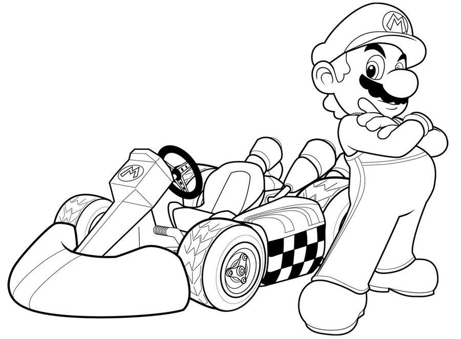 22 Dessins De Coloriage Mario Kart à Imprimer Sur Laguerchecom Page 1