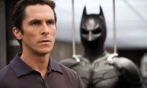 Christian Bale as Bruce Wayne and the Batman.