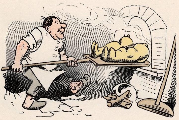 ... in das Ofenloch