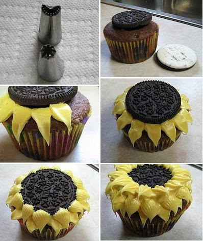 So easy, especially just using a large star tip and one layer around the oreo. A classmate of mine brought some to school, but she added little ladybugs. Um, made of frosting, of course.