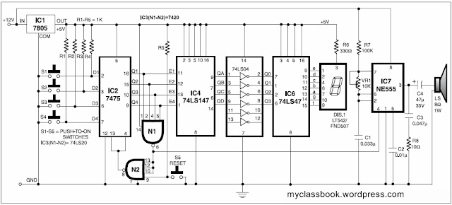 Fastest Finger First Electronic Project without using Microcontroller