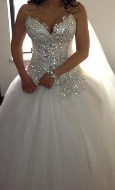 wedding ball gown with sweetheart neckline and bling