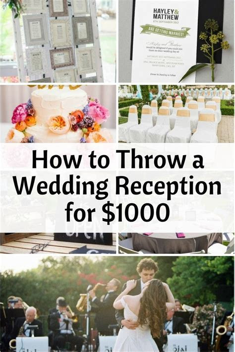 How to Throw a Wedding Reception for $1000   Wedding Ideas