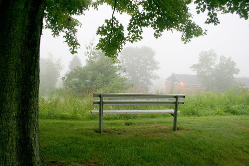 As fog rolled in.........