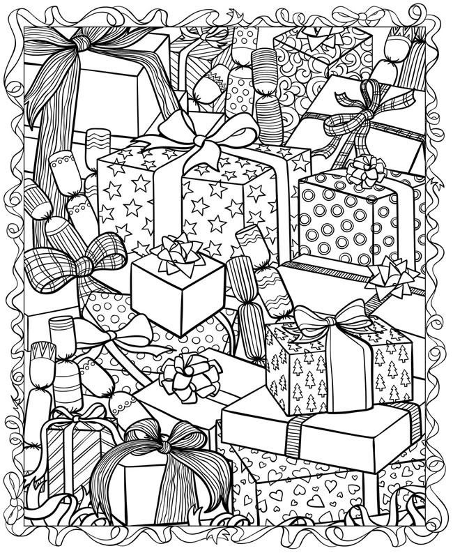 21 Christmas Printable Coloring Pages   Everything Etsy ...