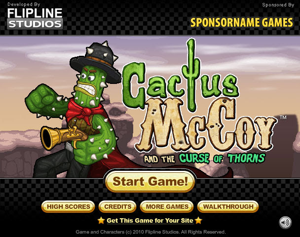 Join #CactusMcCoy as he battles his enemies and return the Cactus Emerald to reverse the curse! #PlatformGames #AdventureGames #FliplineStudios