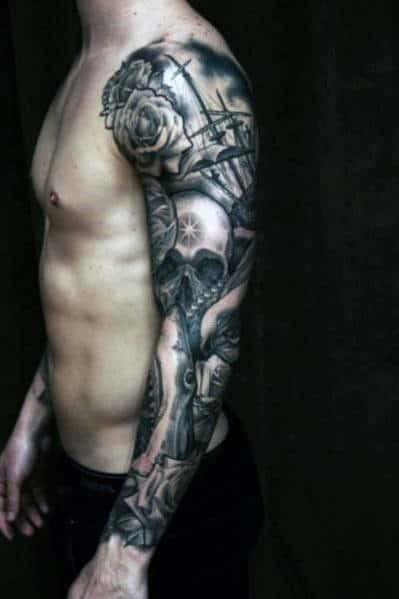 Top 35 Best Rose Tattoos For Men An Intricate Flower