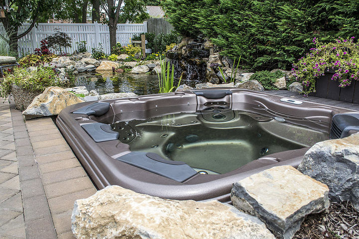 Budget Backyard Upgrade Hot Tub With A View The Deck And Patio Company