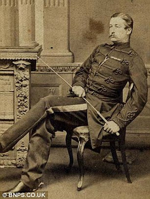 The looter: Capt. Gunter (pictured) of the King Dragoon guards raided the palace in 1860