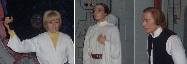 Luke, Leia y Han Solo en el Museo de Cera de Barcelona