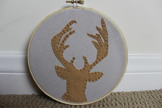 Embroidered Deer Hoop