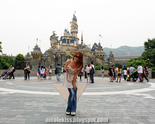 me in front of sleeping beauty castle