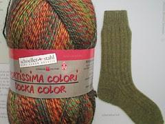 lichen ribbed sock