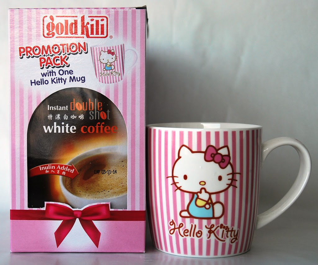 Hello Kitty Cup w Double Shot White Coffee