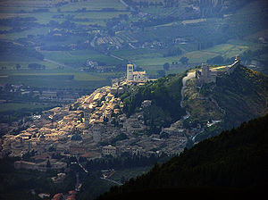 Assisi seen from Monte Subasio