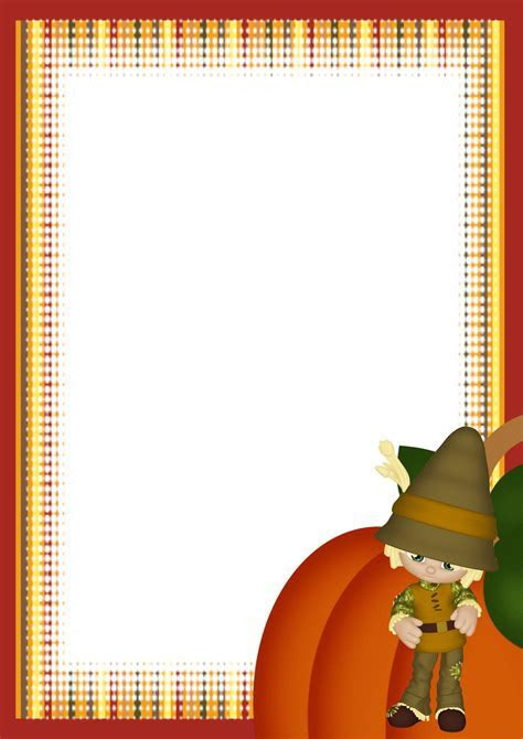 A4 Autumn or Fall FREE Stationery.com Template Downloads